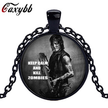 Caxybb movie jewelry The Walking Dead scaring pendant necklace the living room of the bronze pendants jewelry of the charms