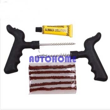 1 Set Car Bike Auto 5 Strip Tire Puncture Plug Repair Tool Kit For Tubeless Tyre Safety(China)