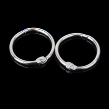 New Hot 10pcs Silver Hinged Rings for DIY Scrapbooks Albums Crafts Making Diameter 30mm Photo Albums Parts Supplies Accessories(China)