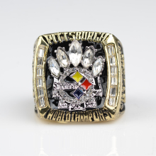 factory sales 2005 Super Bowl Replica Pittsburgh Steelers Championship ring for fans free shipping(China)