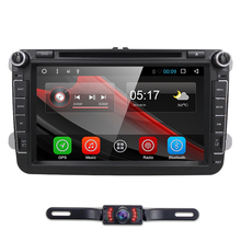 8 Inch IPS Screen Quad Core 2 Din Android 6.0 Car Stereo Radio For VW/Skoda/Seat support DAB+GPS Navigation No Car DVD Player(China)