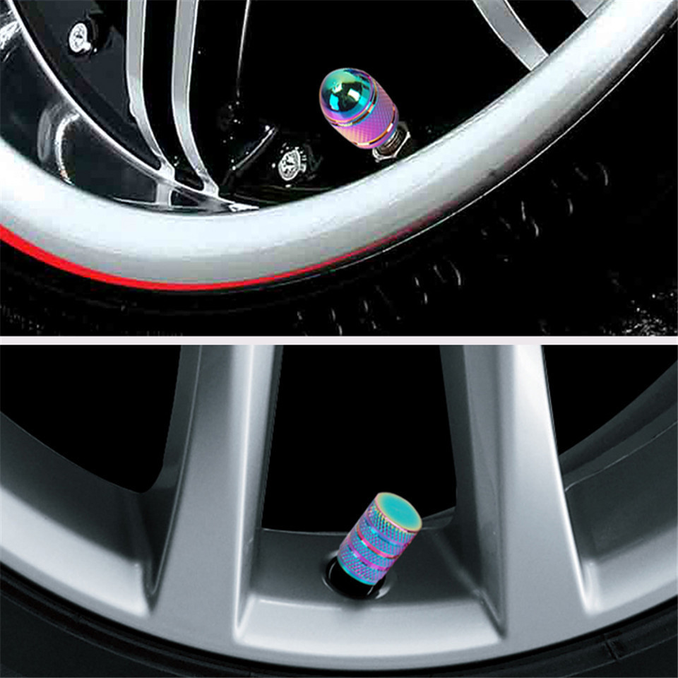Wheel Tire Rim Valve Stem Caps Rose Colors Flower