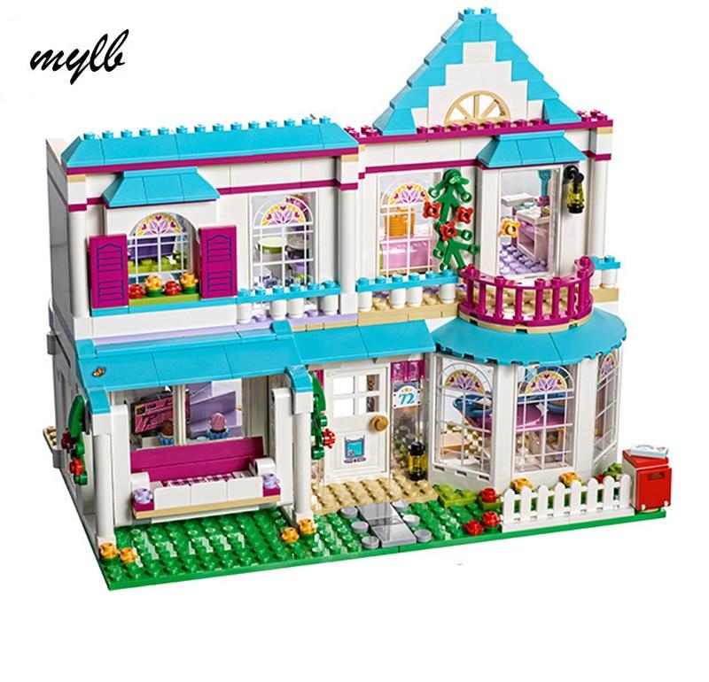 mylb 622Pcs Genuine Good Friend Girls Series The Stephanie\s House Set Building Blocks Bricks with Friends<br>