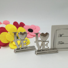 LOVE Place Card Holders Wedding decoration 12PCS/LOT Wedding picture name holder frame