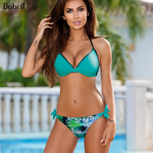 Buy 2019 Halter Sexy Bikini Push Swimwear Women Bandage Swimsuit Female Plus Size Brazilian Bikini Set Swim Wear Bathing Suit
