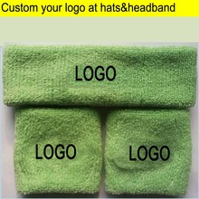 Adult Towel Headbands Sports Waist & Head wears terry Waistband and Headscarf Custom LOGO Apparel Accessories Hood sweatband(China)