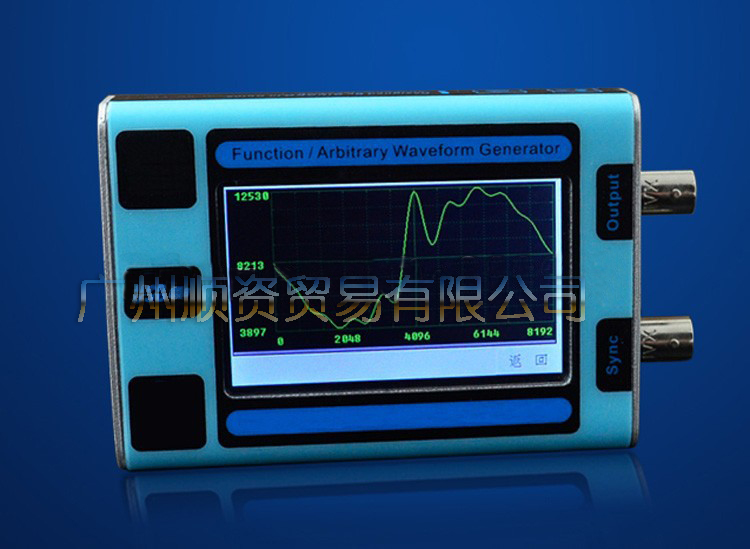 GK101 English software output of the 10MHz arbitrary waveform generator function signal generator source color touch screen<br><br>Aliexpress