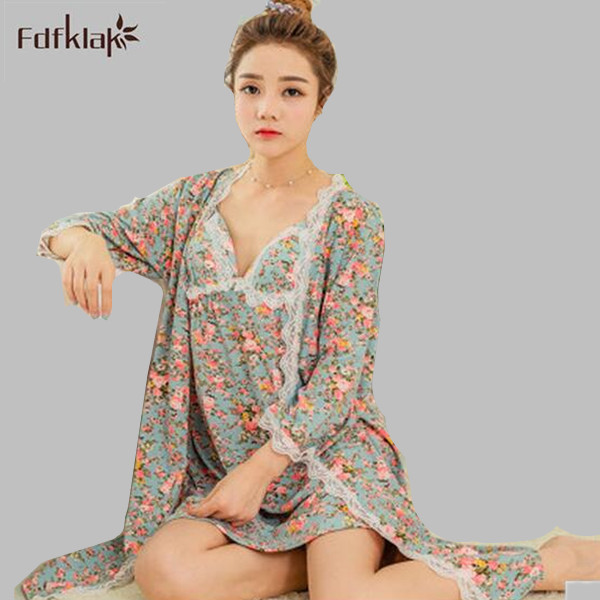 2017 Spring Summer High Quality Sexy Lingerie Woman Silk Robe Nightgown Robe Set Bathrobe Silk Sleepwear Robe & Gown Sets E1205