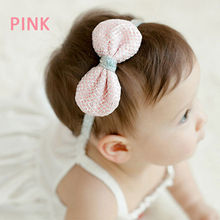 1 pc Adorable Tinsel Headbands Elastic Bowknot Soft Kids Cute Hair Band Accessories New Hot Selling