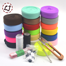 40yd/lot can choose 8 colors 20mm tape elastic brand ribbon webbing trim solid headwear handmade DIY decoration crafts 5 gifts(China)
