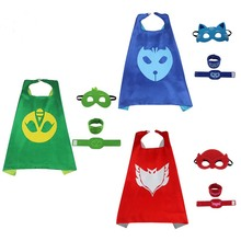 PJ Masks 4pcs/set PJ Masks cloak Cape and Mask Owlette Catboy Gecko Cosplay Action Toys For Children