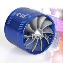 Mayitr High Quality F1-Z Fan Air Intake Supercharger Turbo Turbine Fuel Gas Saver Fan Blue For Car Air Intake System Parts