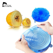 FHEAL Universal Silicone Saran Food Wrap Lid-bowl Pot Lid-silicon Stretch Lids Silicone Cover Pan Kitchen Vacuum Lid Sealer