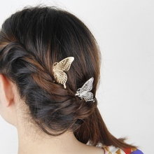Elegance Fashion Style Girls Alloy Butterfly Hair Comb Headwear Hairgrip Hairclip Accessories For Woman