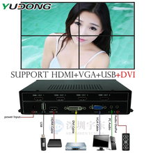 HDMI 2x2 Video Wall Controller USB/HDMI/VGA/DVI TV processor 4 TV shows a screen splicing For LED/LCD Display Free shipping DHL