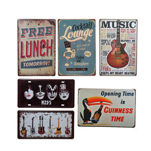 Love Music Metal Plate Vintage Home Decor Tin Sign Bar Coffee Pub Hotel Christmas Decorative Metal Sign Art Painting Iron Plaque