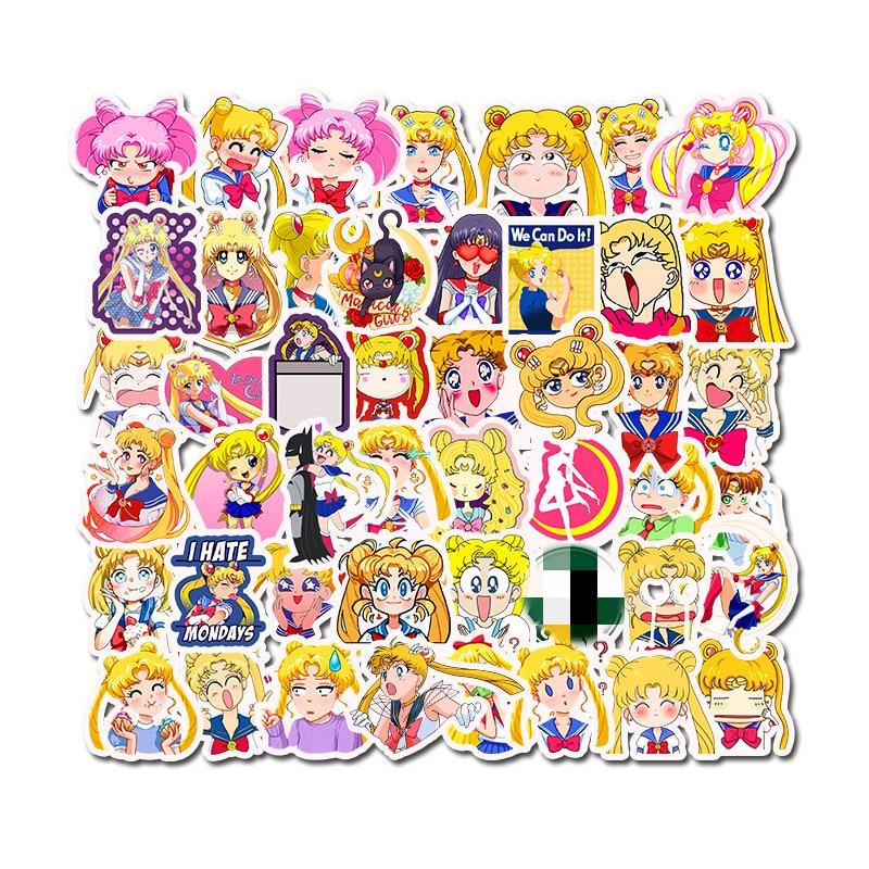 50pcs The Quintessential Quintuplets Cute Cartoon Stickers For Laptop Skateboard