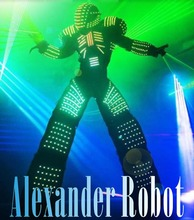 LED robot Costume /LED Clothing/Light Costume suits/ LED Robot suits(China)