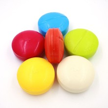 Mini Medicine Case Medical Pill Box 4 Slots Drug Pill Case Cute Round Shaped Pill Splitters Cases Random Color