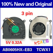 New CPU Cooling Fan For Toshiba Satellite A80 A85 A80L Tecra A3 Tecra S2 ADDA AB0605HX-EB3 DC5V 0.32A Free shipping(China)