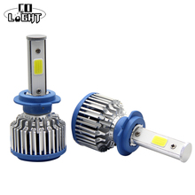 CO LIGHT 2 Pieces Cob Chip H7 Led 72W Single Beam 36W H7 Bulb With Decoder Waterproof Car Driving For Kia Ford Toyota 4X4