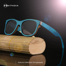 KITHDIA Bamboo sunglasses fashion polarized sunglasses popular new design Skateboard wooden sunglasses for free shipping