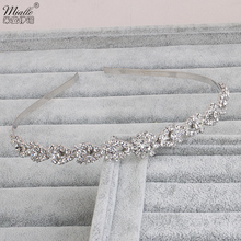 Miallo Wedding Tiaras Beautiful Tiara Bridal Headband Crown Silver Crystal Rhinestones Crown Fashion Hair Accessories Jewelry