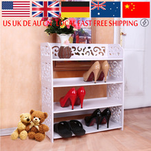Shoe Cabinet Shoes Storage Organizer Shelf White WPC Fabric Shoe Holder Kitchen Furniture Decorative Stand Rack(China)