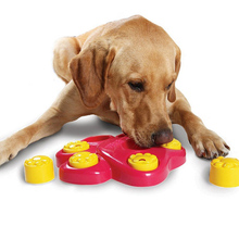 Pet Use Multifunction Pet Bowl Feeder 7 Holes Dog Paw Educational Toys Puppy Puzzle Toys(China)