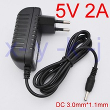 1PCSHigh quality 5V 2A Charger EU  Power Supply Adapter for Tablet Huawei Mediapad 7 Ideos S7, S7 Slim, S7-301U,S7-301W, S7-301C