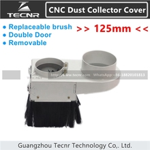 removable cnc dust collector cover 125mm double door CNC Router Accessories for 4.5KW 5.5KW spindle motor(China)