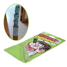 1 Pcs Funny Practical Jokes Classic Toys Petrified Cigarette Trick Soot Funny Novelty Joke Prank Trick Toy Adult Gag Toys(China)