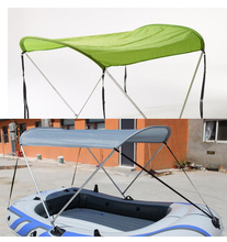 High Quality inflatable boat Tent sun shelter fishing tent shade-shed inflatable rowing boats rubber fishing boat tent(China)