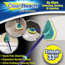 Clean Reach Deluxe Power Scrubber Bathtub Cleaner and Kitchen Brush with Handle