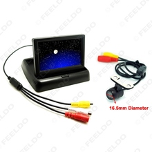 "4.3"" Foldable TFT LCD Digital Monitor With CCD Reversing Backup Camera Car Rear View System #FD-3788"