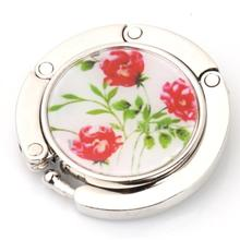 Round Rose Flower Folding Bag Handbag Purse Table Hook Hanger Holder Gift Free Shipping