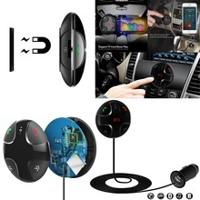 2016 New Universal Wireless LCD Bluetooth 3.0 Car Kit MP3 FM Transmitter USB Charger Handsfree For Iphone Android Free Shipping