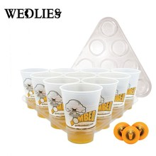 Beer Pong Kit Ultimate Bombed Party Fun 22 Cups 3 Balls For Adult Table Top Board Games Drinking Game Pub Bar BBQ Gift