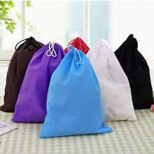 2016 Hot Sale Waterproof Non-woven Shoe Cloth Storage Bag Travel Drawstring Bag Wholesale(China)