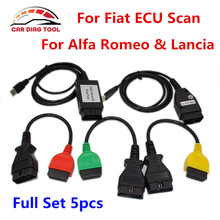 2017 For Fiat ECU Scanner Diagnostic Tool For FIAT ECU Programmer With Full Set 5PCS Cables Support For Alfa Romeo & Lancia