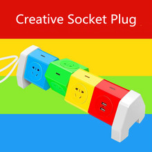 Newest Rotating multi-function creative socket smart Power Strip Socket with USB Standard Extension Socket Plug Wiring board