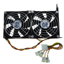 Universal GPU Double Fan Partner VGA Dual Cooler 90mm Ultra Quiet Desktop Computer Chassis PCI Express Graphics Card Cooling 9CM(China)