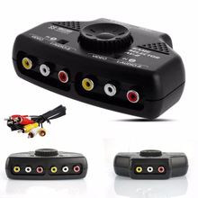 AV Audio Video Switch AV RCA Selector Switch Box Splitter 3RCA Cable Switches Game Selector Box Splitter Black For XBox DBDB(China)