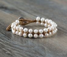 Classic Pearl Bracelet Handmade Bohemia Freshwater Pearls Knotted Bracelet Birthday Gift Pearl Jewelry Dropshipping