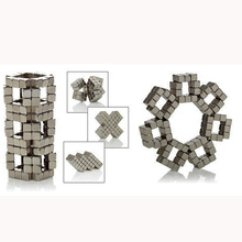 216PCS ,3mm Silver Neodymium Square Magnetic ,Block Neo Magic Cube Magnetic Puzzle NeoKub OF Magnetic Beads With Metal Box