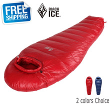 Black Ice G700  Blue/Red Single Mommy  Splicing Ultra-light Winter Outdoor Adult Goose Down Sleeping Bag with Carrying Bag
