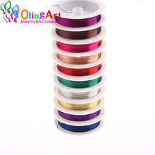 OlingArt 0.8MM 3M/Roll Copper Wire mixed color plated Beading Wire Jewelry Findings DIY Jewelry Accessories  Cord 2017 new