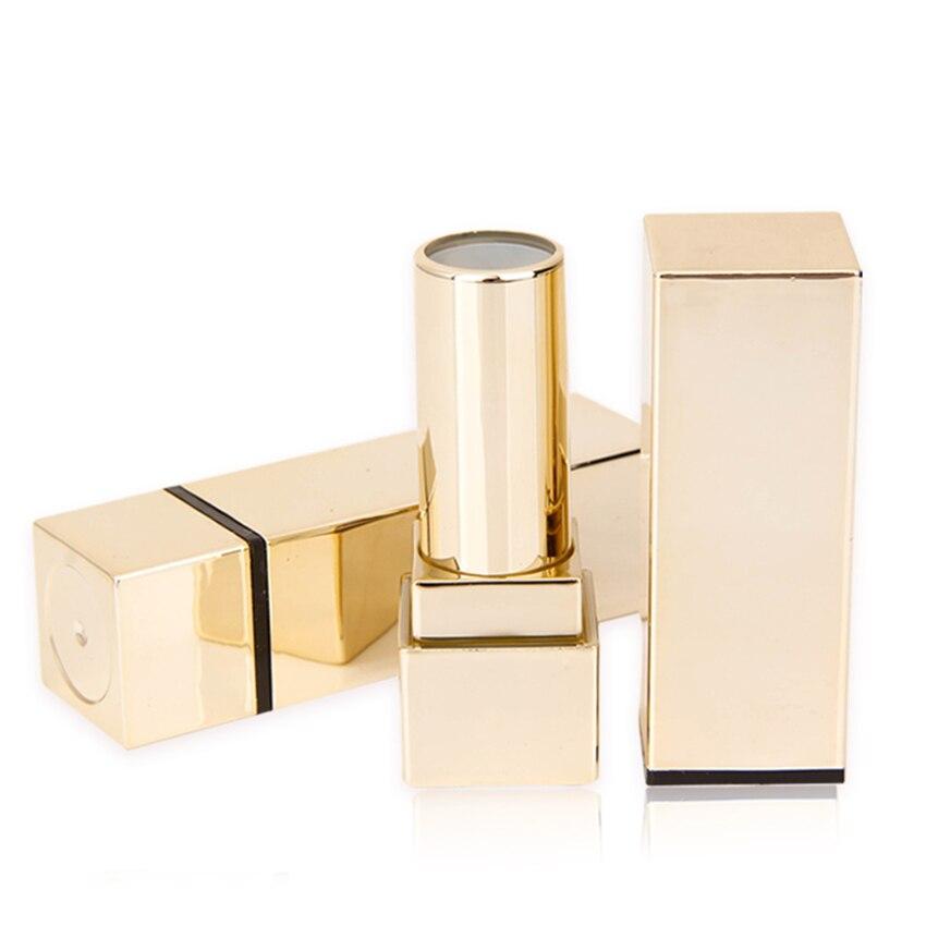 30PCS Elegant Champagne Gold Plastic DIY 12.1mm Lipstick Tube Lip Gloss Tube Container Lip Rouge Tube Lip Balm Tube Golden Color<br>