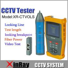 Fress Shipping!LCD CCTV Tester  XR-CTVOLS  PTZ  optical power meter function Cable length measurement Cable Scan