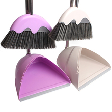 Thicken Non-Slip Handle Clean Sweep The Floor The Broom Suit Stainless Steel Superfine Fiber Broom Set With Scraping Teeth